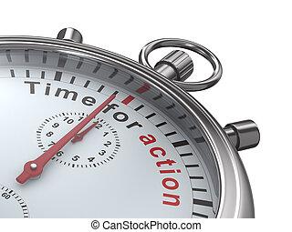 imagen, aislado, fondo., action., tiempo, cronómetro, blanco...