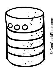 imagen, base de datos, caricatura, icono