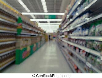 imagen borrosa, de, supermercado