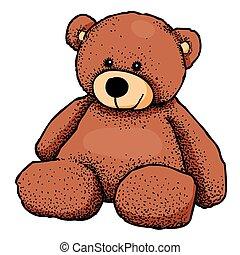 imagen, caricatura, oso, teddy