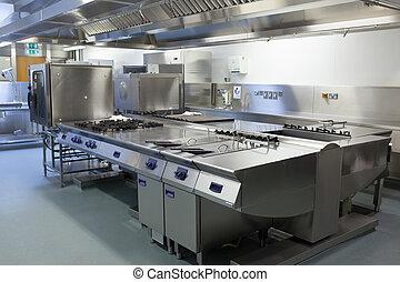 imagen, cocina, restaurante