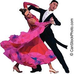 imagen, color, emparéjese bailando