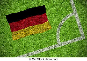 imagen compuesta, de, alemania, bandera nacional