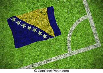 imagen compuesta, de, bosnia, bandera nacional