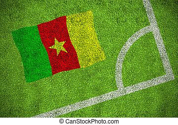 imagen compuesta, de, camerún, bandera nacional