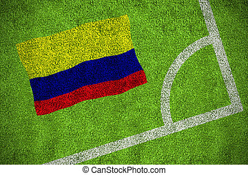 imagen compuesta, de, colombia, bandera nacional