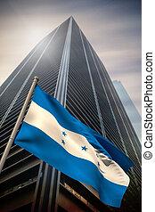 imagen compuesta, de, honduras, bandera nacional
