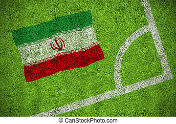 imagen compuesta, de, irán, bandera nacional
