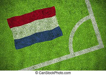 imagen compuesta, de, países bajos, bandera nacional