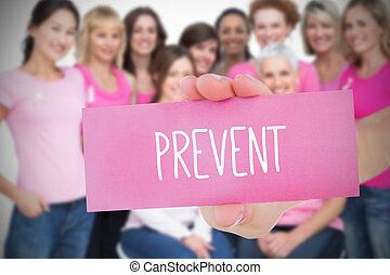 imagen compuesta, para, conocimiento de cáncer de mama