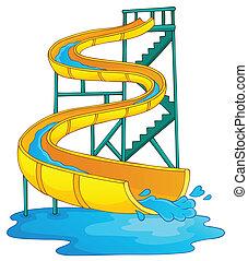 imagen, con, aquapark, tema, 2