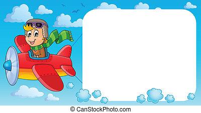 imagen, con, avión, tema, 3