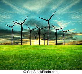 imagen, conceptual, eco-energy