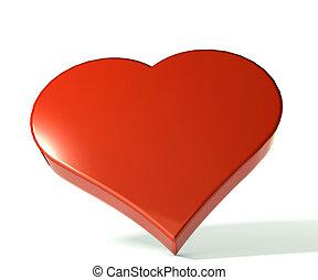imagen, corazón, símbolo, 3, d