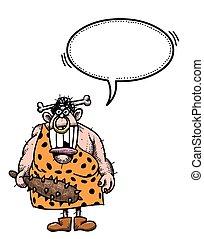 imagen, cueva, woman-100, caricatura