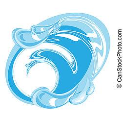 imagen, de, agua limpia