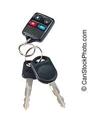 imagen, de, coche adapta, y, mando a distancia