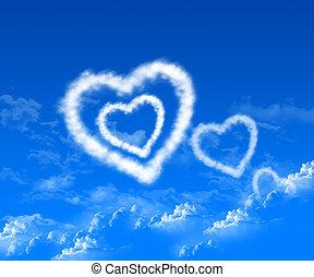 imagen, de, el corazón