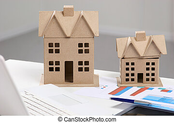 imagen, de, nuevo modelo, casa, en, arquitectura, cianotipo