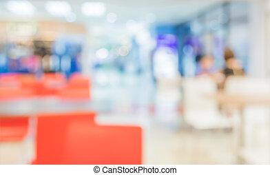 imagen, de, tienda de café, mancha, plano de fondo, con, bokeh.
