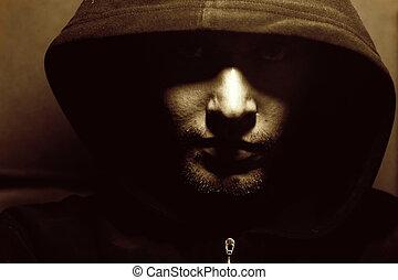 imagen, de, un, misterioso, monje