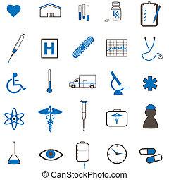 imagen, de, vario, médico, icons.