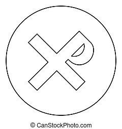 imagen del color, tzar, religioso, rex, cruz, negro, santo, círculo, icono, zar, plano, el suyo, símbolo, estilo, ilustración, señal, justin, monogram, contorno, zar, vector, redondo