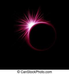 imagen, eclipse, solar