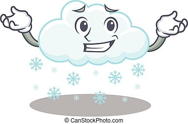 imagen, el hacer muecas, diseño, nube, caricatura, nevoso, ...