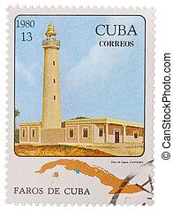 imagen, estampilla, correos, impreso, 1980:, -, faros, cuba, exposiciones, 1980, cuba, hacia, de