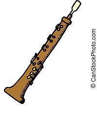 imagen, flauta