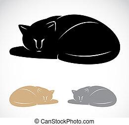 imagen, gato, vector