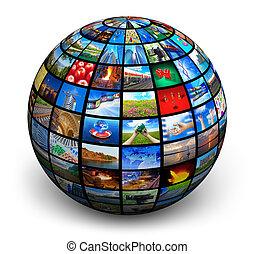 imagen, globo