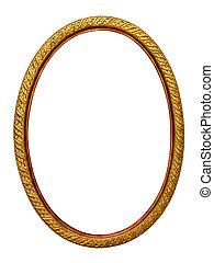 imagen, gold-patterned, marco