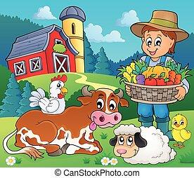 imagen, granjero, topic