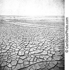 imagen, grunge, paisaje del desierto