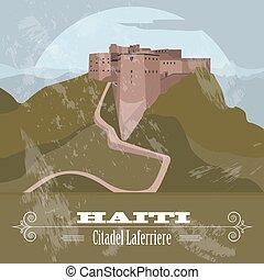 imagen, landmarks., retro, diseñar, haití, laferriere., ...