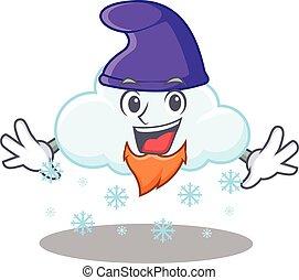 imagen, lindo, duende, diseño, nube, caricatura, nevoso