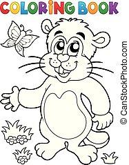 imagen, marmota, tema, colorido, 1, libro