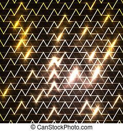 imagen, mudanza, encima, azul, digitalmente, rápido, fondo negro, rayas, generar, luz