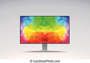 imagen pantalla, de par en par, colorido