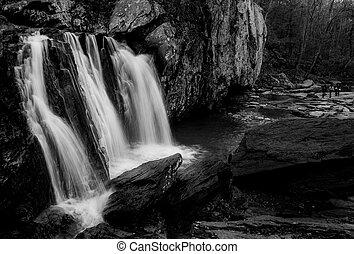 imagen, parque, bajas, estado, negro, rocas blancas, kilgore