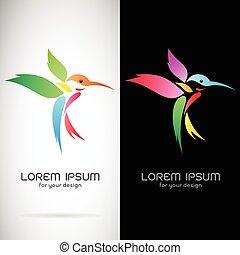 imagen, plano de fondo, vector, fondo negro, diseño, blanco, símbolo, logotipo, colibrí
