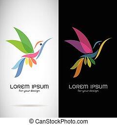 imagen, Plano de fondo,  vector, negro, Plano de fondo, diseño, blanco, símbolo, logotipo, Colibrí