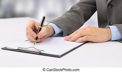 imagen, primer plano, escritura, Manos