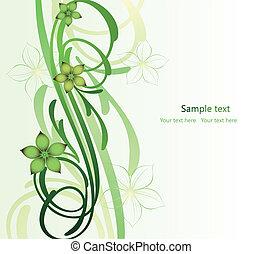 imagen, resumen, allí, flores, rama, rúbrica
