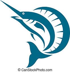 imagen, sailfish, vector
