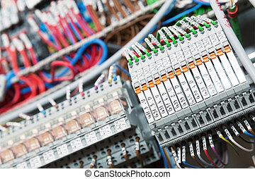 imagen, switchgear, detalle, gabinete