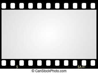 imagen, vector, negativo, película, marco