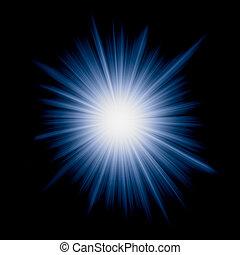 imagen, vector, starburst